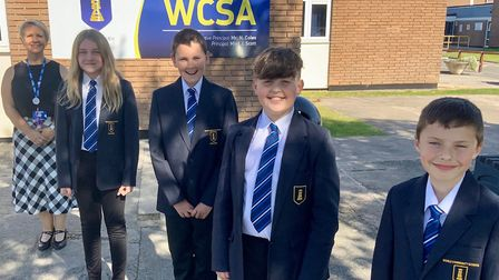 Students returned to WCSA last week. Picture: Shane Dean