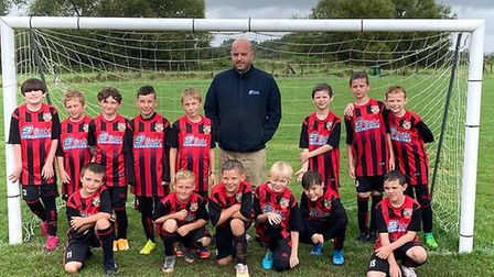 Banwell Athletic under-10s have a new sponsor in 9trak Logistics Ltd