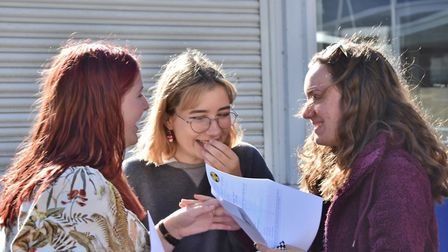Students collected their GCSE results in August.Picture: Clevedon School
