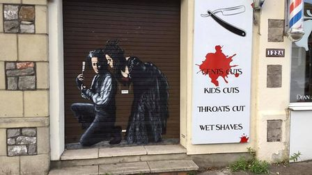Mural outside Sweeny Todd salon
