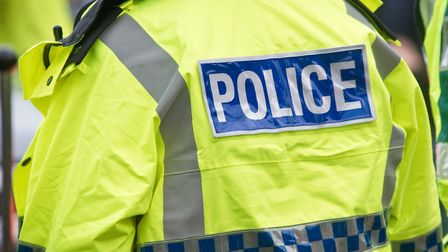 Stock Image Police Jacket Sign. Picture: MARK ATHERTON