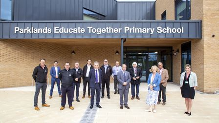 Parklands Educate Together Primary School opening ceremony. Picture: Willmott Dixon