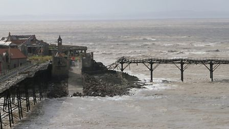 Birnbeck pier in its pre-rebuilt state ! (hopefully)