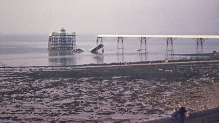 Clevedon Pier after its collapse.