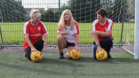 Marie, left, Kiera, centre, and Jane, right, train in Yatton.