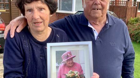 Nadine and husband Tony had a picture of the Queen as they marked the 60th wedding anniversary