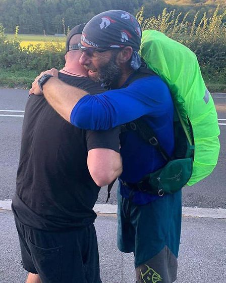 Mike 'Buster' Keatings is completing the 900-mile journey from Lands End to John O'Groats to raise m