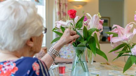 Indoor crafts, games and events have helped keep sprits high in the home. Picture: St Georges Nursin