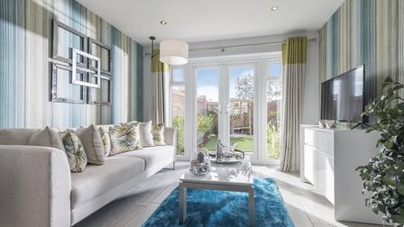 The Elm showhome living area from Bellway's Balgdon Gardens.