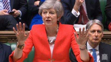 Prime Minister Theresa May speaks during the Brexit debate in the House of Commons. Photograph: Hous