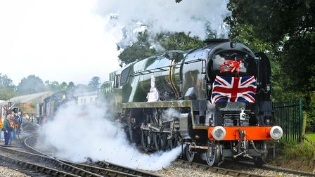 Braunton is among the locomotives operated by the Brexit Express campaigner Jeremy Hosking's Locomot