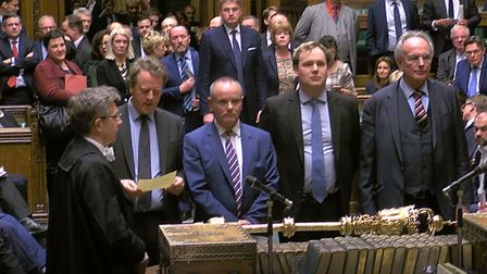 MPs announcing the result of the Brexit vote. Photograph: House of Commons/PA Wire.