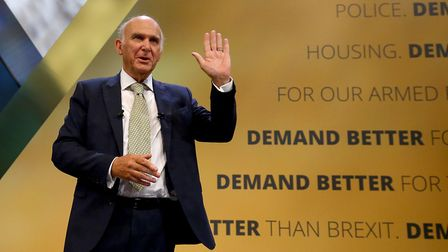 Liberal Democrats leader Sir Vince Cable. Photograph: Gareth Fuller/PA.