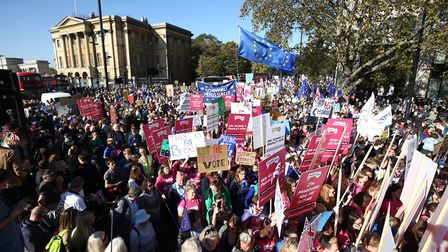 The People's Vote March for the Future in London. Photograph: Yui Mok/PA.