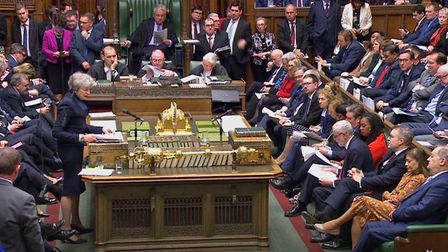 Prime Minister Theresa May speaks during Prime Minister's Questions in the House of Commons. Picture