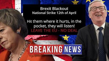 An image promoting the Brexit 'Blackout' on Facebook. Photograph: Facebook.
