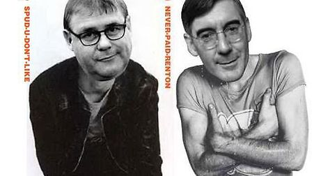 Mark Francois and Jacob Rees-Mogg as they might have looked as Spud and Renton in Danny Boyle's Tra