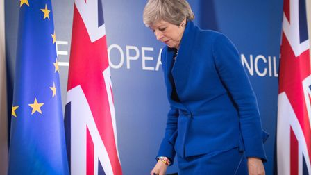 Prime Minister Theresa May holds a news conference after the European Council in Brussels. Photograp