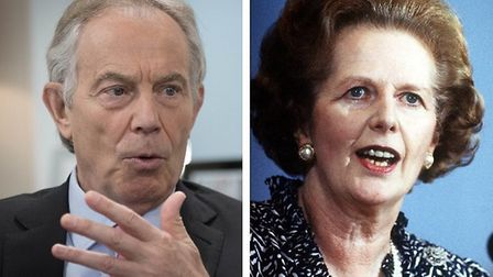 Former prime ministers Tony Blair and Margaret Thatcher. Photographs: PA/Archant.