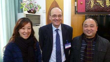 Julian Baldwin visitng students and teachers in China to learn more about teaching methods.