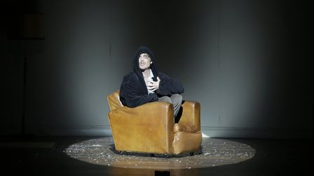 Cillian Murphy in 'Grief is The Thing With Feathers' at the Barbican. Picture: Colm Hogan