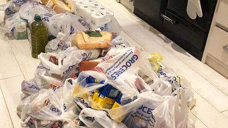 Stockpiling in Worcestershire. A man spent more than �600 on his groceries this month. Photograph: J