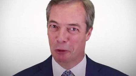 Nigel Farage announces the Leave Means Leave protest from Sunderland to London. Photograph: Twitter.