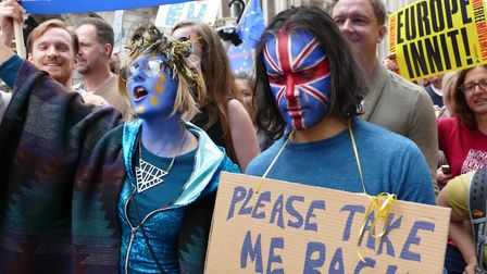 Tens of thousands demonstrated in a 'March For Europe Event' on July 2, 2016 in London, England. The