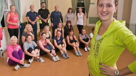 Princes Hall, Clevedon. Emily Gazey-Mitchell who has launched a new fitness company with one of her