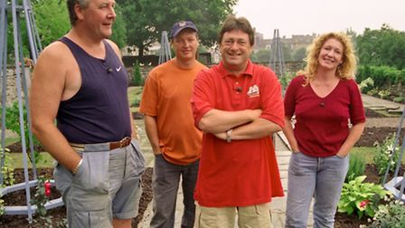 Alan Titchmarsh and the Ground Force Team.