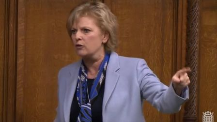 Anna Soubry speaks out during a Brexit debate in the House of Commons. Photograph: Parliament TV.