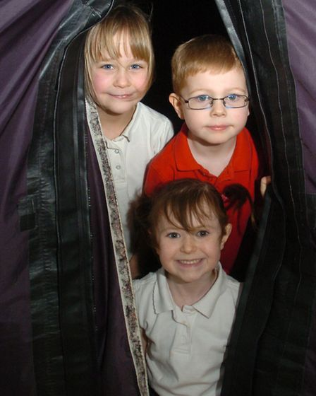 Yeo Moor Primary School, Clevedon children being visited with a planetarium.