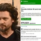 Campaigner Dr Mike Galsworthy appeared on BBC News (left), to discuss the viral anti-Brexit petition