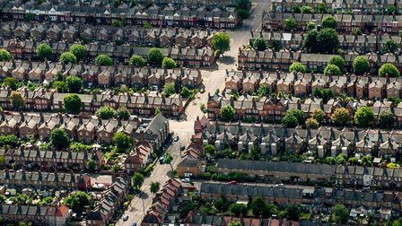 An aerial view of houses on residential streets in Muswell Hill, north London. Photograph: PA Wire.