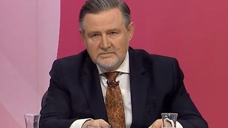 Barry Gardiner MP on Question Time. Photograph: BBC.
