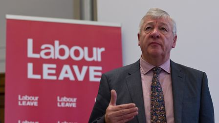 Graham Stringer speaks during the Labour Leave launch on January 20, 2016. (Photo by Ben Pruchnie/G