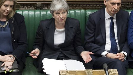 Theresa May in the House of Commons. Photograph: Jessica Taylor/UK Parliament.