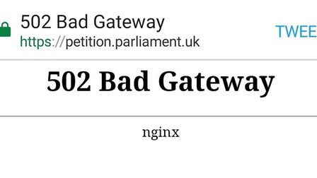 Demand for the Revoke Article 50 petition crashed the government's website. Photograph: Archant.