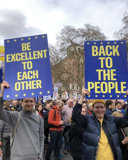 People's Vote Placards (CD Moorby/Supplied)