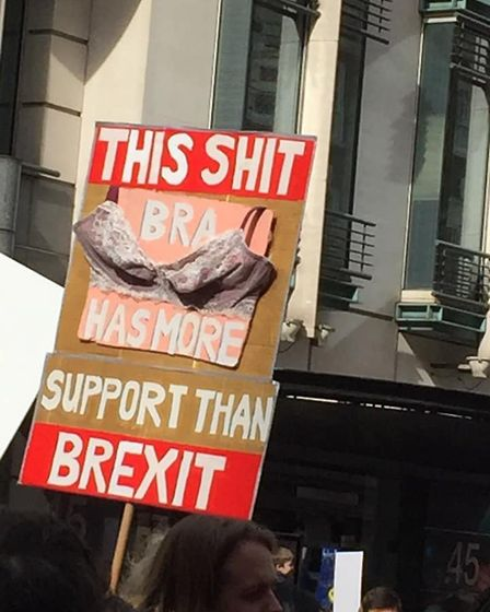 People's Vote Placards (Martin Davies/Supplied)
