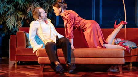 Denis O'Hare and Olivia Williams in Tartuffe at the National Theatre. Picture: Manuel Harlan