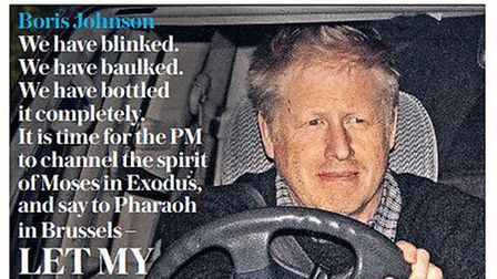 """Boris Johnson confused who said 'Let my people go!"""" as Moses, rather than God, on the front of The D"""
