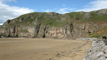 Cliffs on the South Side of Brean Down, image via Wikipedia under Creative Commons Licence Code