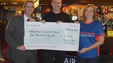 Mayfair Town & Country in Weston-super-Mare has donated 1,000 to Bone Cancer Research.