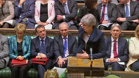 Prime Minister Theresa May speaks during Prime Minister's Questions. Picture: House of Commons/PA Wi