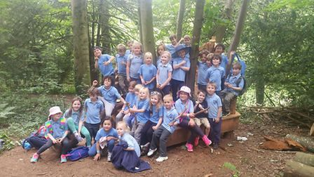 The children attended the workshop at Tyntesfield.