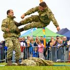 Royal Marine Commandos unarmed combat demonstration.