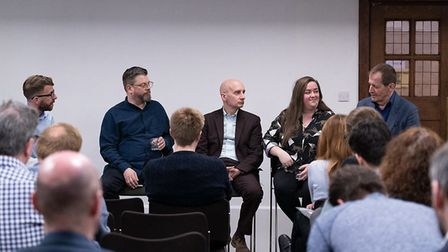 Richard Porritt, Steve Anglesey, Andrew Adonis, Amanda Chetwynd-Cowieson and Alastair Campbell at a