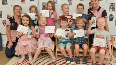 """Youngsters at The Nursery, Portishead, who have """"graduated"""" and are now off to school."""