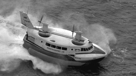 The Westland/Saunders-Roe SR.N2 hovercraft on the Solent, August 31st 1964. Picture: Getty Images
